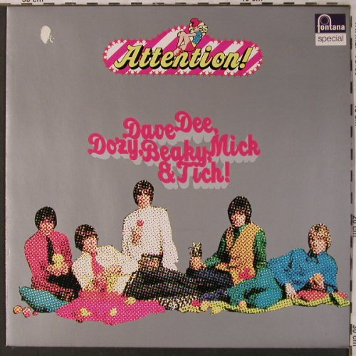 Dave Dee,Dozy,Beaky,Mick & Tich: Attention!, m /vg+, Fontana(6438 058), D, Ri,  - LP - X2967 - 5,00 Euro