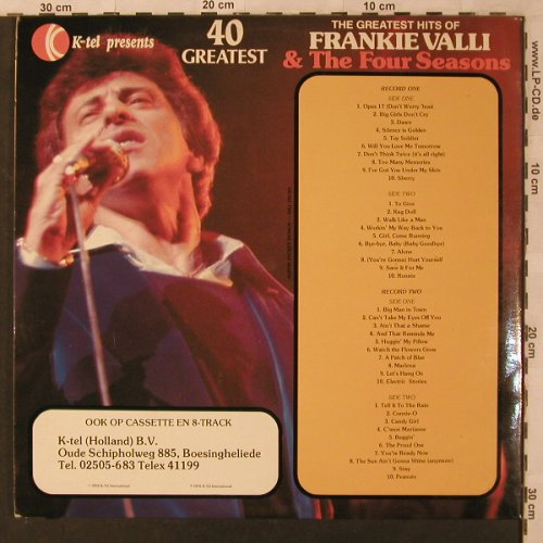 Valli,Frank & The Four Seasons: Same - 40 Original Songs, Foc, K-tel(TN 1281), NL, 1976 - 2LP - X2974 - 6,00 Euro