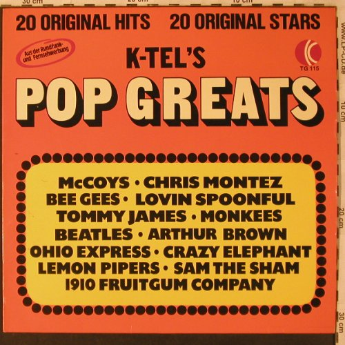 V.A.Pop Greats: Tommy James &...Lovin'Spoonful, K-tel(TG 115), D, 1974 - LP - X2991 - 4,00 Euro