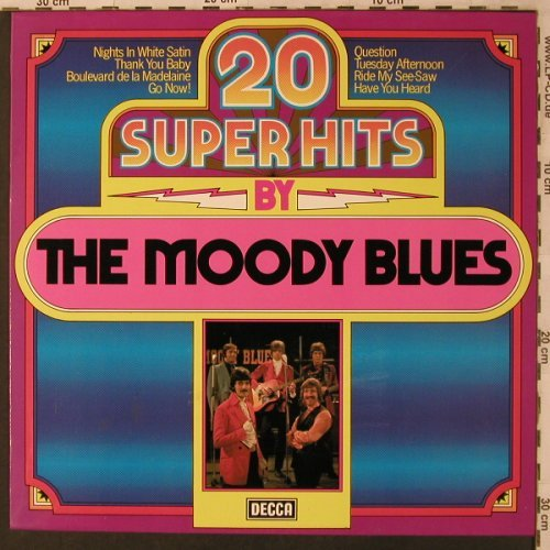 Moody Blues: 20 Super Hits, Decca(6.24237 AP), D, 1980 - LP - X3038 - 5,50 Euro