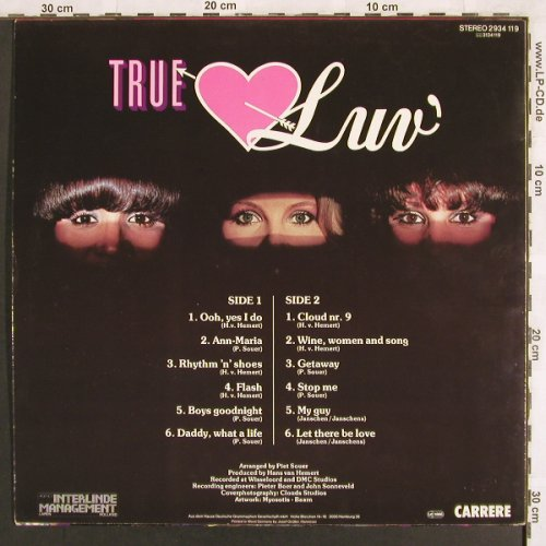 LUV': True Luv, Carrere(2934 119), D, 1979 - LP - X3156 - 5,00 Euro
