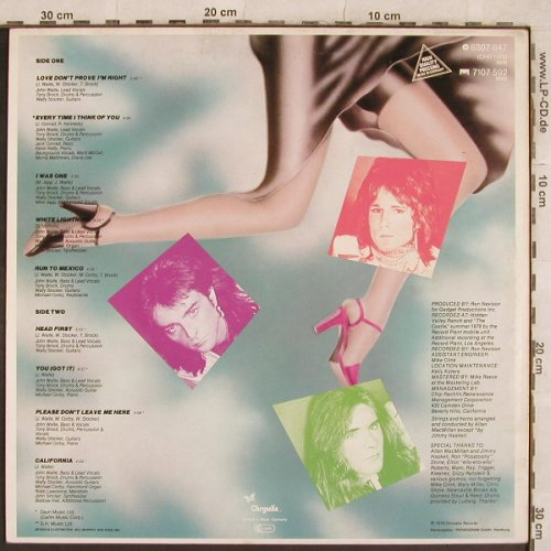 Babys: Head First, Chrysalis(6307 647), D, 1978 - LP - X321 - 6,50 Euro