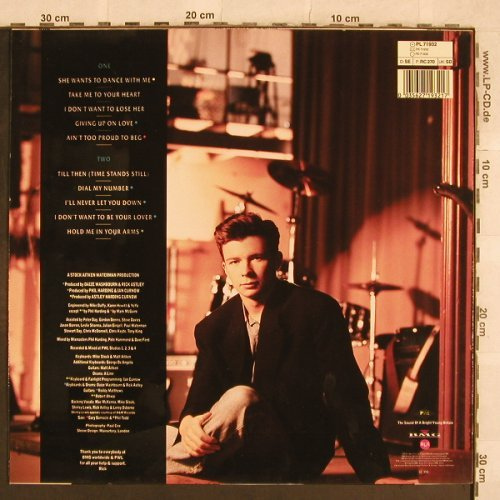 Astley,Rick: Hold Me In Your Arms, PWL(PL 71932), D, 1988 - LP - X326 - 5,00 Euro