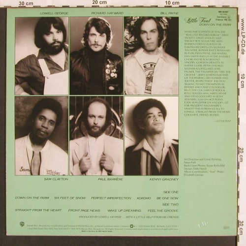 Little Feat: Down On The Farm, WB(WB 56 667), D, 1979 - LP - X3297 - 6,00 Euro