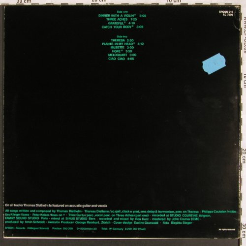 Diethelm,Thomas: Shaved, Spoon(014), D, 1981 - LP - X3308 - 7,50 Euro