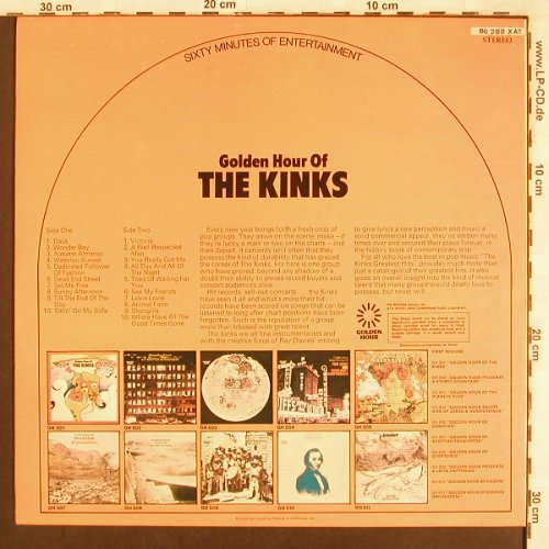 Kinks: Golden Hour Of, Golden Hour(GH 501), UK,  - LP - X3501 - 5,00 Euro