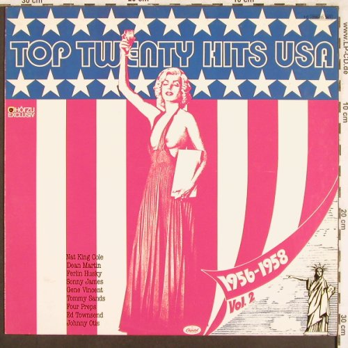 V.A.Top Twenty Hits USA: 1956-58, Vol.2 , 15 Tr., Capitol/Hörzu(056-85 341), D,  - LP - X3518 - 4,00 Euro