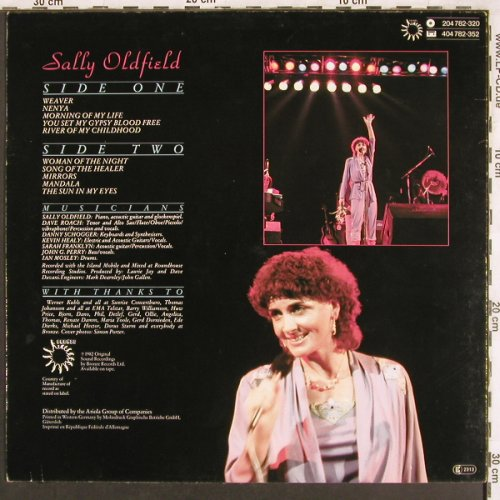 Oldfield,Sally: In Concert, Bronze(204 782-320), D, 1982 - LP - X3547 - 6,00 Euro