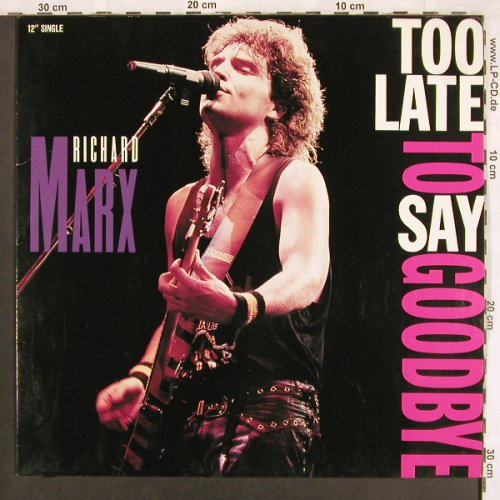 Marx,Richard: Too Late To Say Goodbye+2, EMI(20 3740 6), D, 1989 - 12inch - X3637 - 3,00 Euro