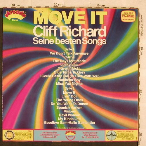 Richard,Cliff: Move It - Seine Besten Song, Arcade(ADE G85), D, 1985 - LP - X373 - 5,00 Euro