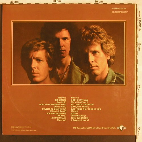 Walker Brothers: No Regrets,Foc, GTO(2321 107), D, 1975 - LP - X3862 - 6,00 Euro