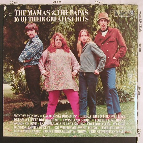 Mamas & Papas: 16 Of Their Greatest Hits,Club-Ed., ABC/Dunhill(65 267 7), D,  - LP - X3935 - 6,00 Euro