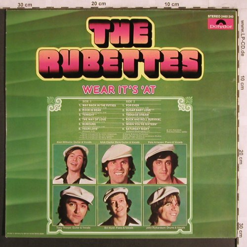 Rubettes: Wear It's'At, Polydor(2460 240), D, 1974 - LP - X3945 - 9,00 Euro