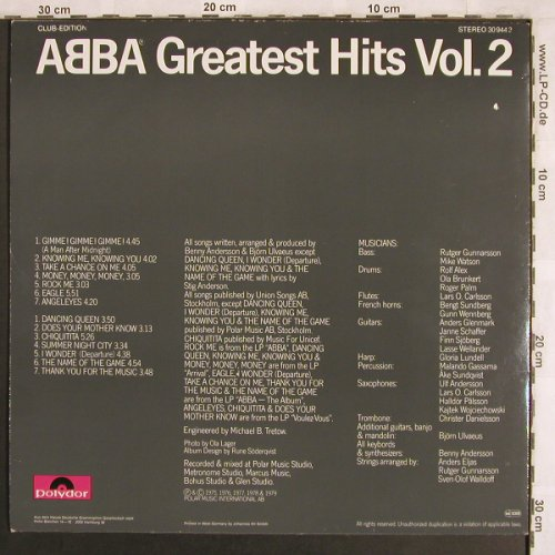 ABBA: Greatest Hits Vol.2, Club Edition, Polydor(30 944 2), D,  - LP - X3963 - 6,00 Euro