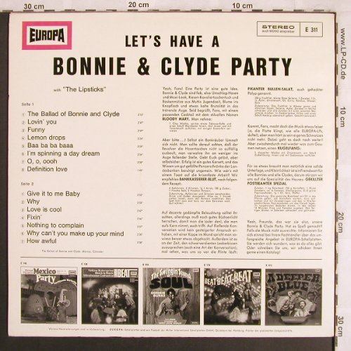 Lipsticks: Bonnie & Clyde-Let's have a Party, Europa(E 311), D,  - LP - X3964 - 4,00 Euro