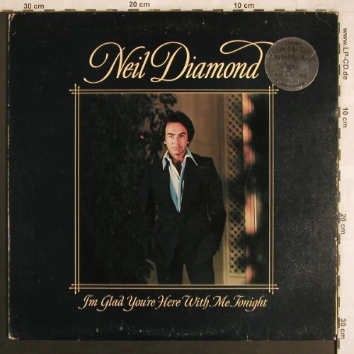 Diamond,Neil: I'm Glad You're Here With Me Tonigh, CBS(86 044), UK, 1977 - LP - X3968 - 5,00 Euro