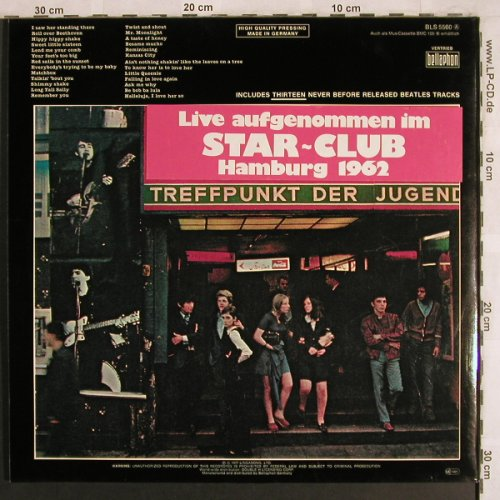 Beatles: Live At Star Club Hamburg 1962,Foc, Bellaphon(BLS 5560), D, 1977 - 2LP - X3985 - 12,50 Euro