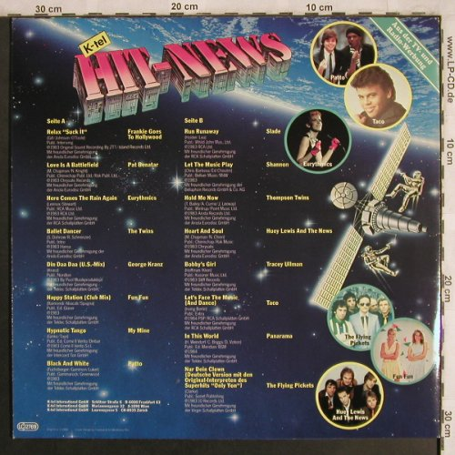 V.A.K-tel Hit-News: Frankie Goes to Hollywood..Flying P, K-tel(TG 1497), D, 1983 - LP - X4066 - 4,00 Euro