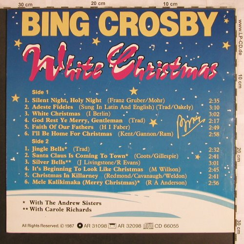 Crosby,Bing: White Christmas, World Music(WM 31098), EEC, 1987 - LP - X4098 - 4,00 Euro