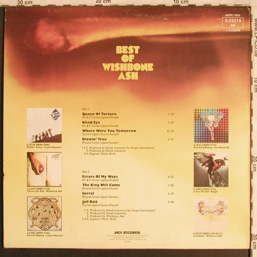 Wishbone Ash: Best Of, m-/vg+, MCA(6.22279 AO), D, 1975 - LP - X4144 - 6,00 Euro