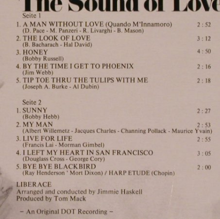 Liberace: The Sound Of Love, 2001, Ri(200.195), D,  - LP - X4173 - 5,00 Euro