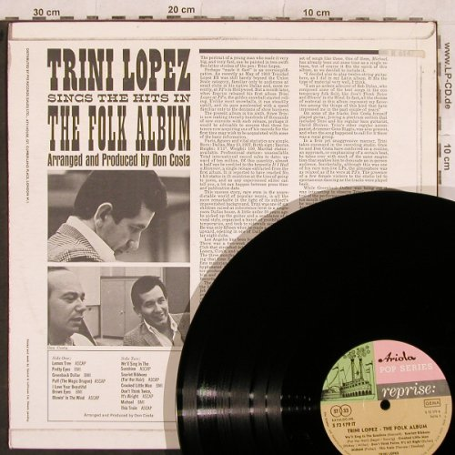 Lopez,Trini: The Folk Album,, vg+/m-, Reprise/Ariola(S 72 179 IT), D/UK,  - LP - X427 - 4,00 Euro