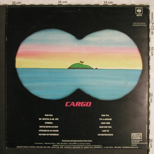 Men At Work: Cargo, CBS(25372), GR, 1983 - LP - X4322 - 5,00 Euro