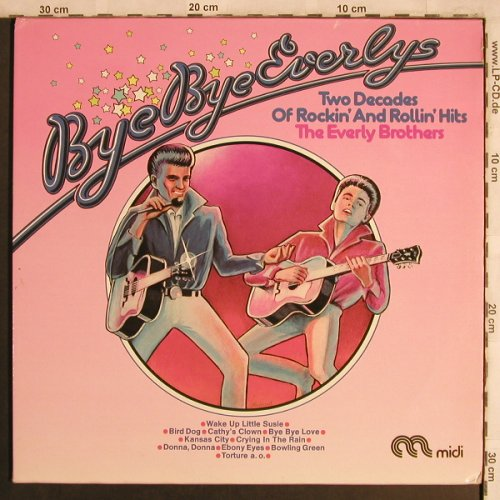 Everly Brothers: Bye Bye Everlys, Foc, Midi, wh.Muster(MID 66 032), D, 1974 - 2LP - X4365 - 7,50 Euro