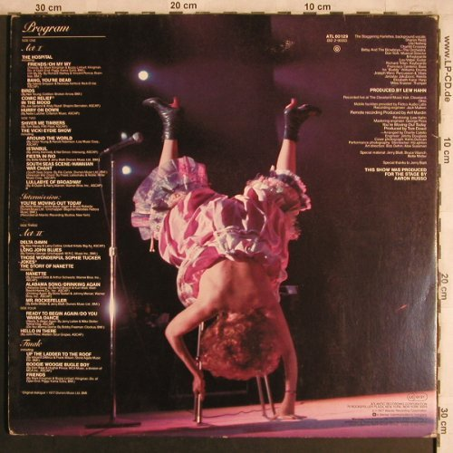 Midler,Bette: Live At Last, Foc, Atlantic(ATL 60 129), D, 1977 - 2LP - X4462 - 7,50 Euro