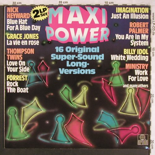 V.A.Maxi Power: 16 orign. Super-Sound Long Versions, Ariola(601 122-321), D, 1983 - 2LP - X4490 - 6,00 Euro