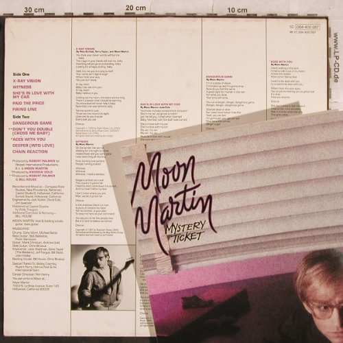 Moon Martin: Mystery Ticket, +Facts, Capitol(064-400 087), D, 1982 - LP - X457 - 5,00 Euro