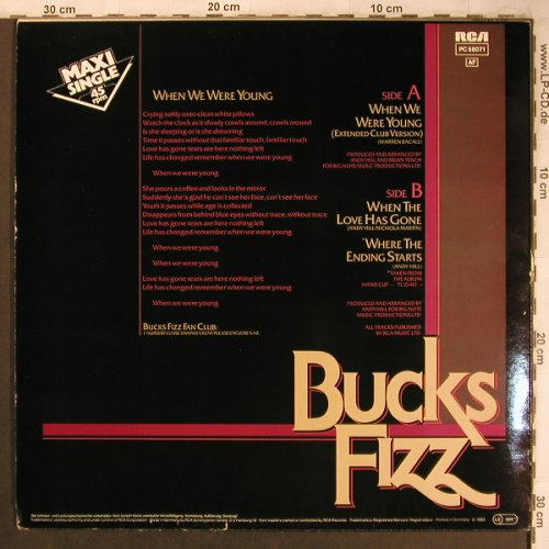 Bucks Fizz: When We Were Young exClub +2, RCA(PC 68071), D, 1983 - 12inch - X4591 - 4,00 Euro