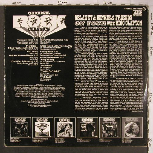 Delaney & Bonnie & Friends: On Tour With E.Clapton, Ri,1970, Atlantic(ATL 30 030), D, 1974 - LP - X4601 - 9,00 Euro