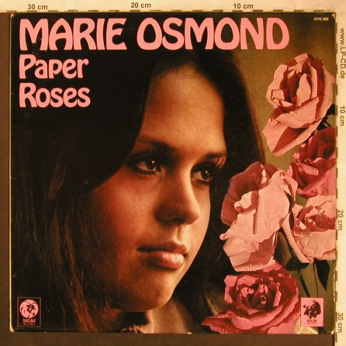 Osmond,Marie: Paper Roses, MGM(2315 262), D, 1973 - LP - X4622 - 9,00 Euro