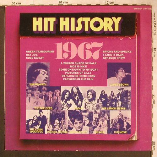 V.A.Hit History 1967: Lemon Pipers...James Brown&F.F., Karussell(4999 069), D, Ri,  - LP - X4702 - 5,00 Euro