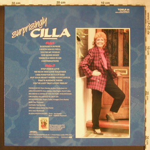 Cilla: Surprisigly, Towerbell Records(TOWLP 14), UK, 1985 - LP - X4766 - 5,50 Euro