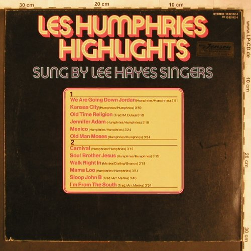 Lee Hayes Singers: Les Humphries Highlights, vg+/m-, BASF(10 22112-1), D, 1974 - LP - X4865 - 5,00 Euro