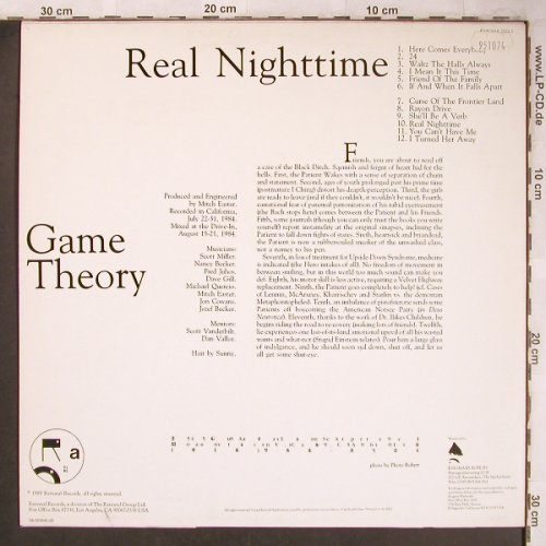 Game Theory: Real Nighttime, Enigma(2022-1), NL, 1985 - LP - X4892 - 6,00 Euro