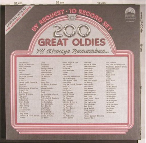 V.A.200 Great Oldies: By Request Vol.1 - Box, Flash Back/Studio One(ST10X1001), ,  - 10LP - X4900 - 17,00 Euro