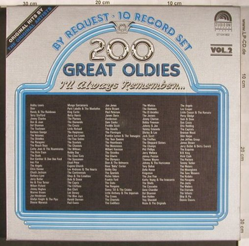 V.A.200 Great Oldies: By Request Vol.2 - Box, Flash Back/Studio One(ST10X1002), ,  - 10LP - X4901 - 17,00 Euro