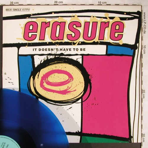Erasure: It Doesn't Have To Be+2,blueVinyl, Mute(INT 126.858), D,m-/vg+, 1987 - 12inch - X4979 - 3,00 Euro