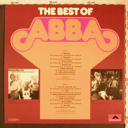 Abba: The Best Of, Polydor(2459 301), D,  - LP - X4996 - 6,00 Euro