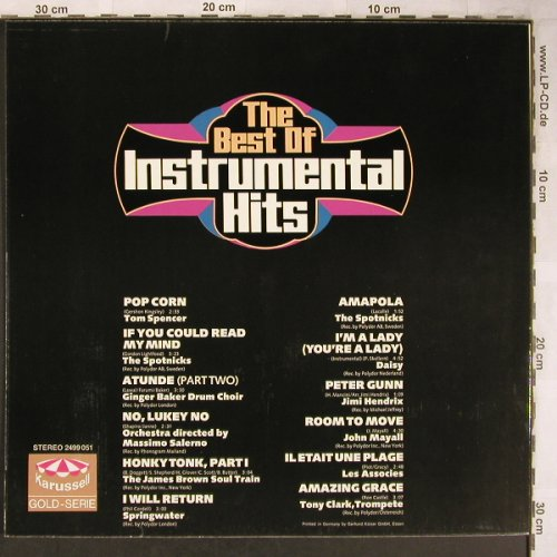 V.A.Instrumental Hits-The Best of: Tom Spencer...Tony Clark, Karussell(2499 051), D, Ri,  - LP - X5005 - 5,00 Euro