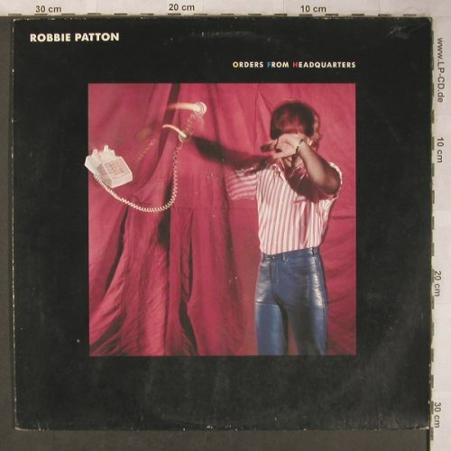 Patton,Robbie: Orders From Headquarters, m-/vg+, Atlantic(78.0006-1), D, 1982 - LP - X5126 - 5,00 Euro