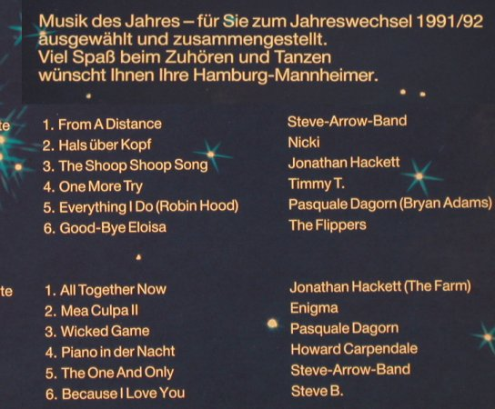 V.A.Hamburg-Mannheimer 1991/92: Steve-Arrow-Band...Stevie B., Multi Media(2.010), D, 1991 - LP - X5231 - 5,00 Euro