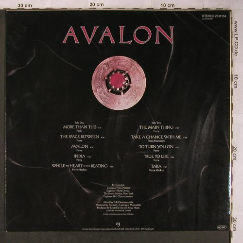 Roxy Music: Avalon, EG(2311 154), D, 1982 - LP - X5286 - 6,00 Euro