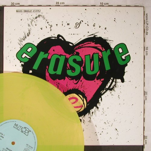 Erasure: Victim of Love*2+1,yellow Vinyl, Mute(INT 126.865), D, 1987 - 12inch - X5422 - 4,00 Euro