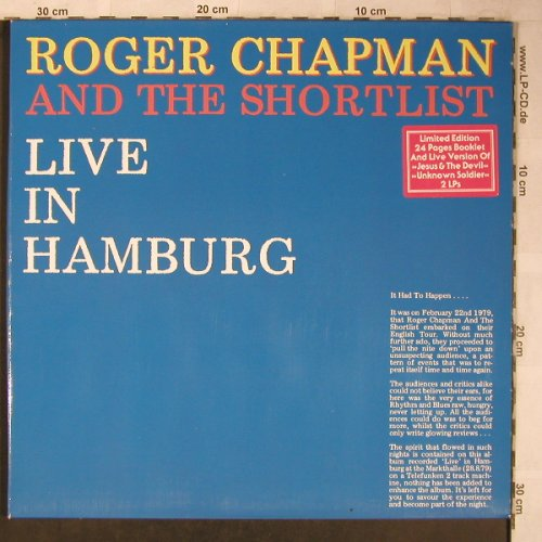 "Chapman,Roger & the Shortlist: Live in Hamburg+Book mit 7""Flexi, LINE(6.28545), D,Lim.Ed., 1979 - 2LP - X5442 - 12,50 Euro"