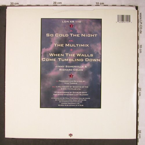 Communards: So Cold The Night/Multimix+1, Metronome(LON XR 110), UK, 1986 - 12inch - X5471 - 4,00 Euro