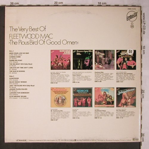 Fleetwood Mac: The Very Best Of, m-/VG+, Embassy(EMB 31378), NL, Ri, 1969 - LP - X5638 - 5,00 Euro
